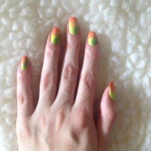 sponge orange green