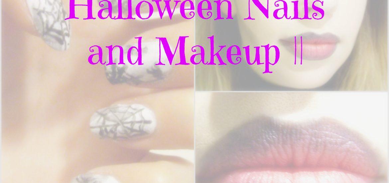 Halloween Nails and Makeup || TUTORIAL