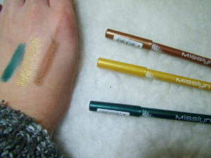 Misslyn Intense Color Liners swatches
