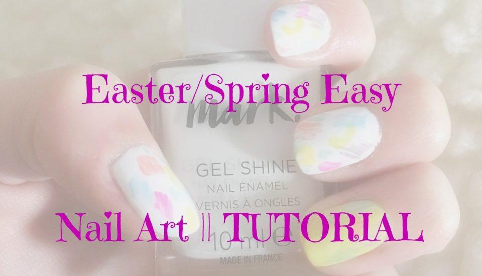 Spring easy nail art
