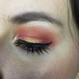 coral obsessions makeup look